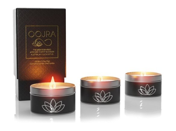 Oojra Essential Oil Aromatherapy Soy Wax Travel Candle Gift Set #travel #candle #aromatherapy #essentialoil #soywaxcandle