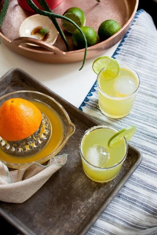 Slim and Sparkling Margarita