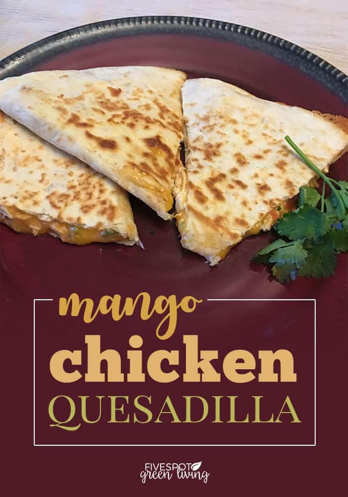 Week 181 - Mango Chicken Quesadilla from FIVESPOT Green Living