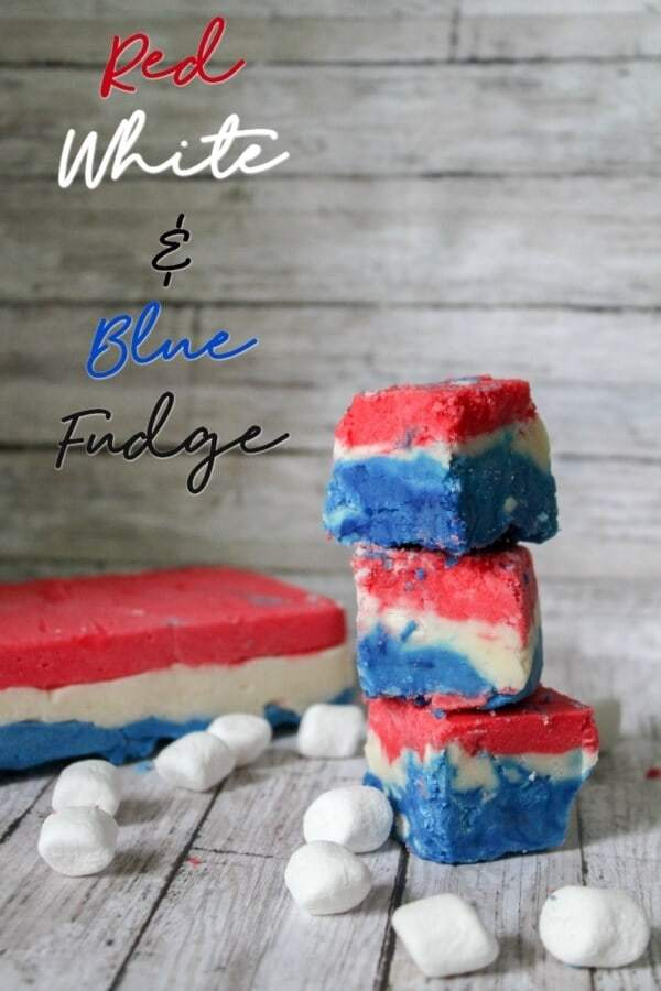 Week 181 - Red White and Blue Fudge from Busy Being Jennifer