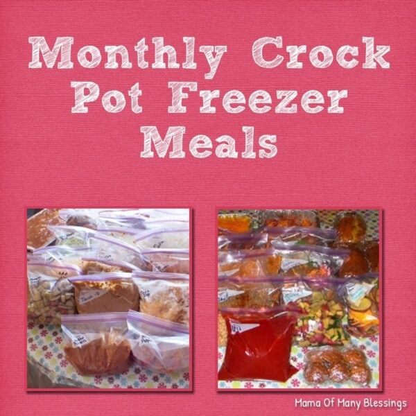 Week 188 Monthly Crock Pot Freezer Meals from Mama of Many Blessings