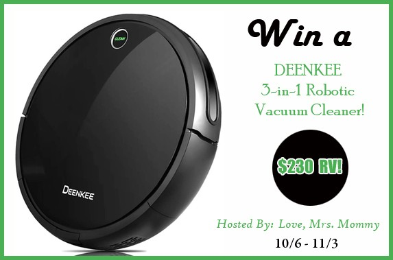 Deenkee 3-In-1 Robotic Vacuum Giveaway