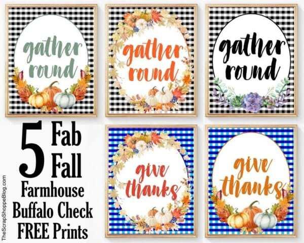 Week 192 - Fall Farmhouse Buffalo Prints from The Scrap Shoppe Blog