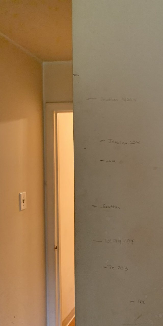 Boys Height Measurements from Apartment