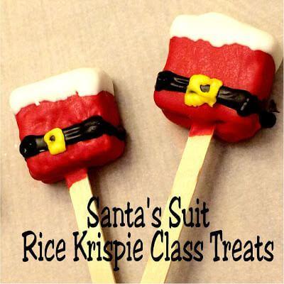 Week 205 - Santa's Suit Rice Krispie Treats from DIY Party Mom
