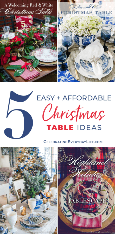 Week 208 - 5 Christmas Table Ideas from Celebrating Everyday Life