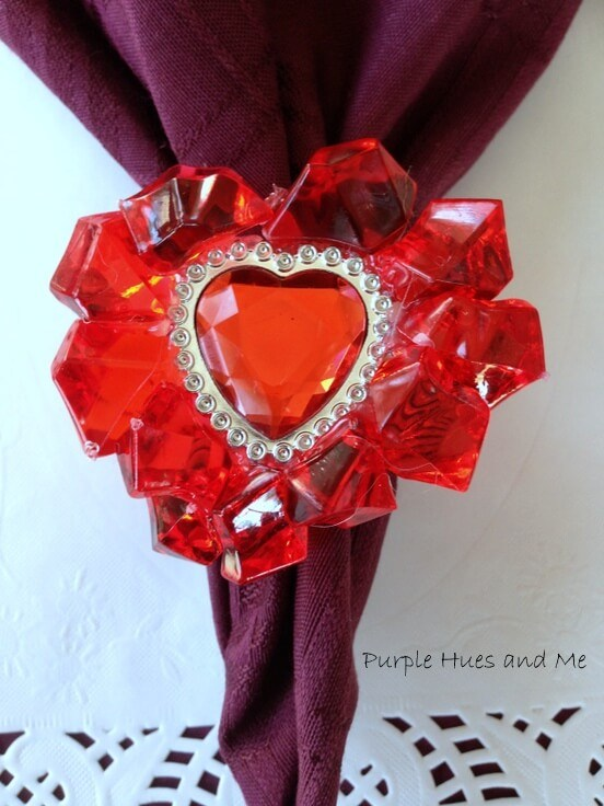 Week 212 - Heart Shaped Napkin Rings from Purple Hues and Me