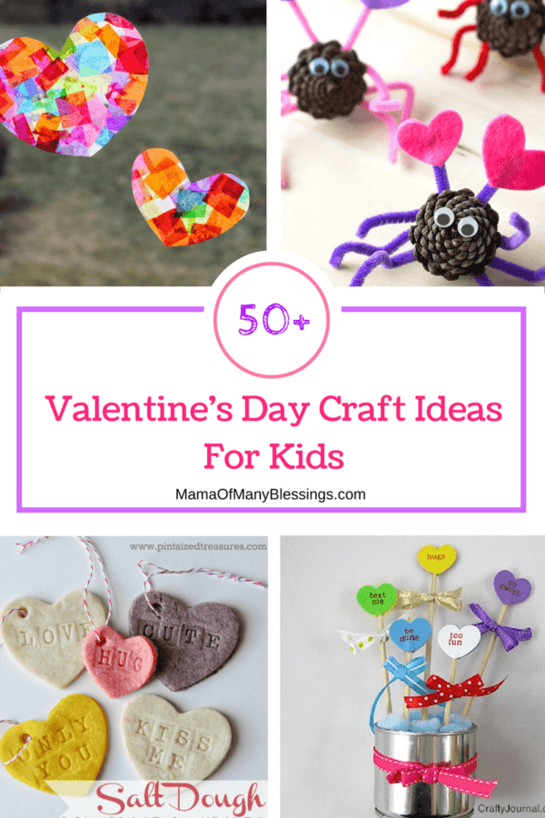 Week 213 - 50 Valentine's Day Craft Ideas for Kids from Mama of Many Blessings