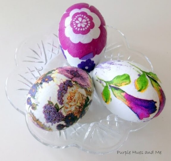 Week 221 Decoupaged Easter Egg from Purple Hues