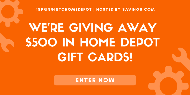 Enter the #SpringIntoHomeDepot Giveaway