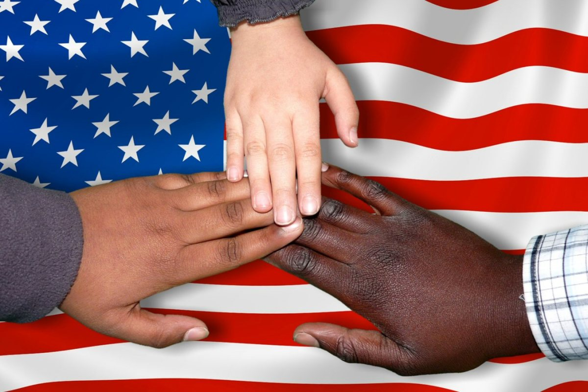 immigrants american flag