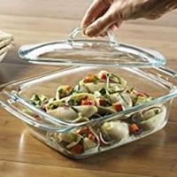 Pyrex Bakeware 2-Quart Casserole Dish with Lid (Rectangular w/Large Handles)