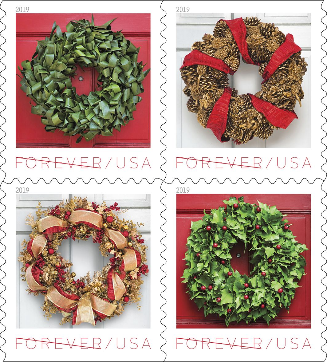 postal service holiday stamps 2019