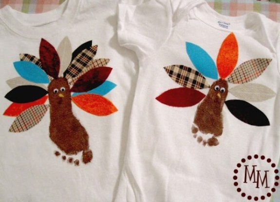 Week 251 Thanksgiving Turkey Shirts from The Scrap Shoppe Blog