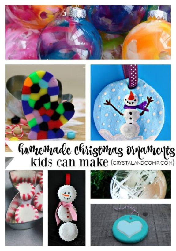 homemade christmas ornaments kids can make