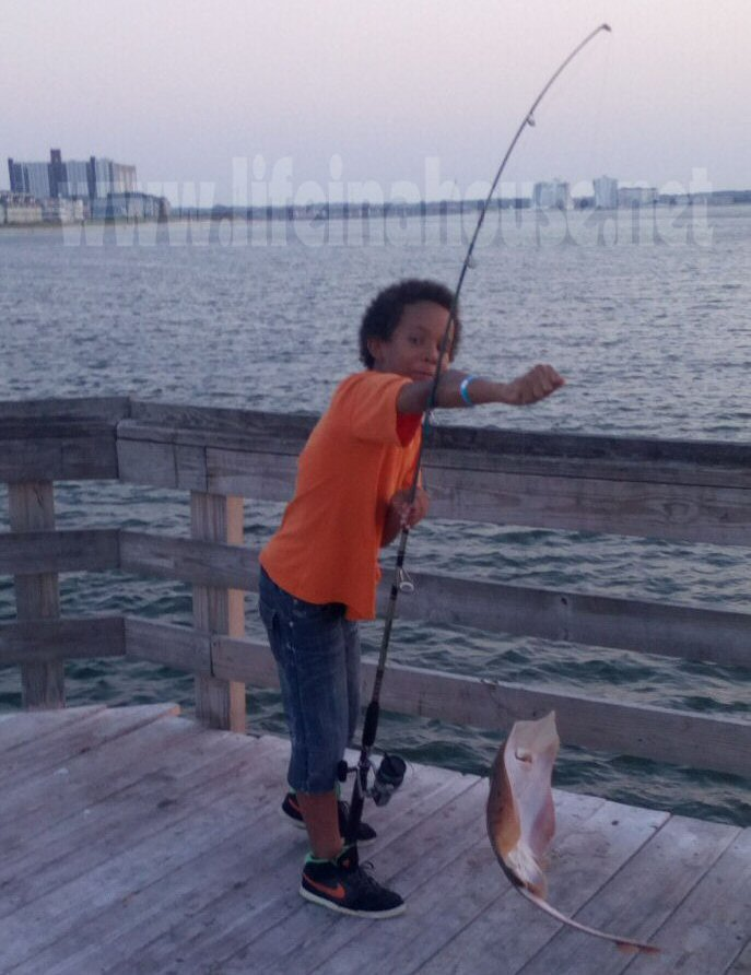 life in a house - proud little fisherman