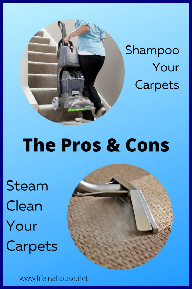 the pros and cons of steam cleaning vs shampooing