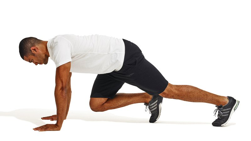 cardio mountain climbers at home
