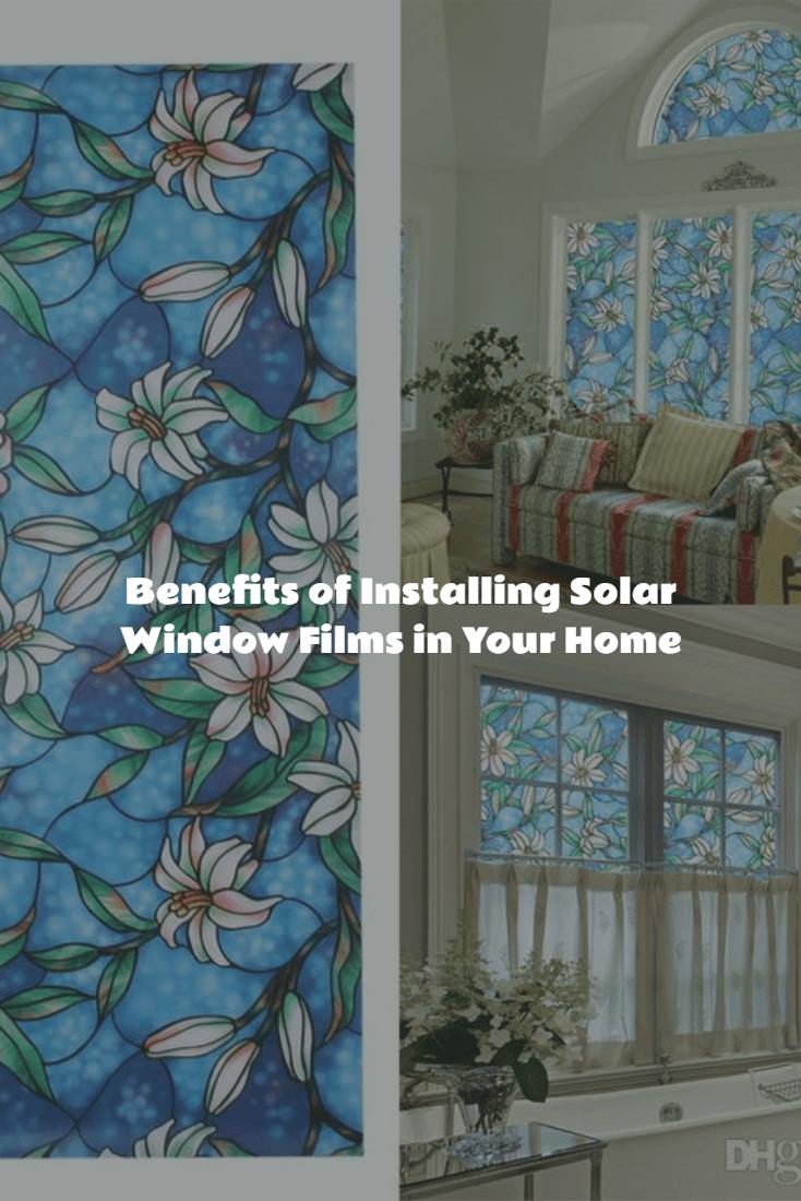 solar window films in home