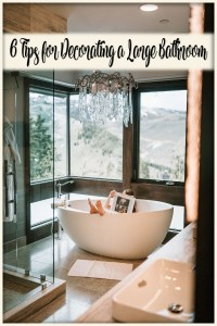 decorating a large bathroom