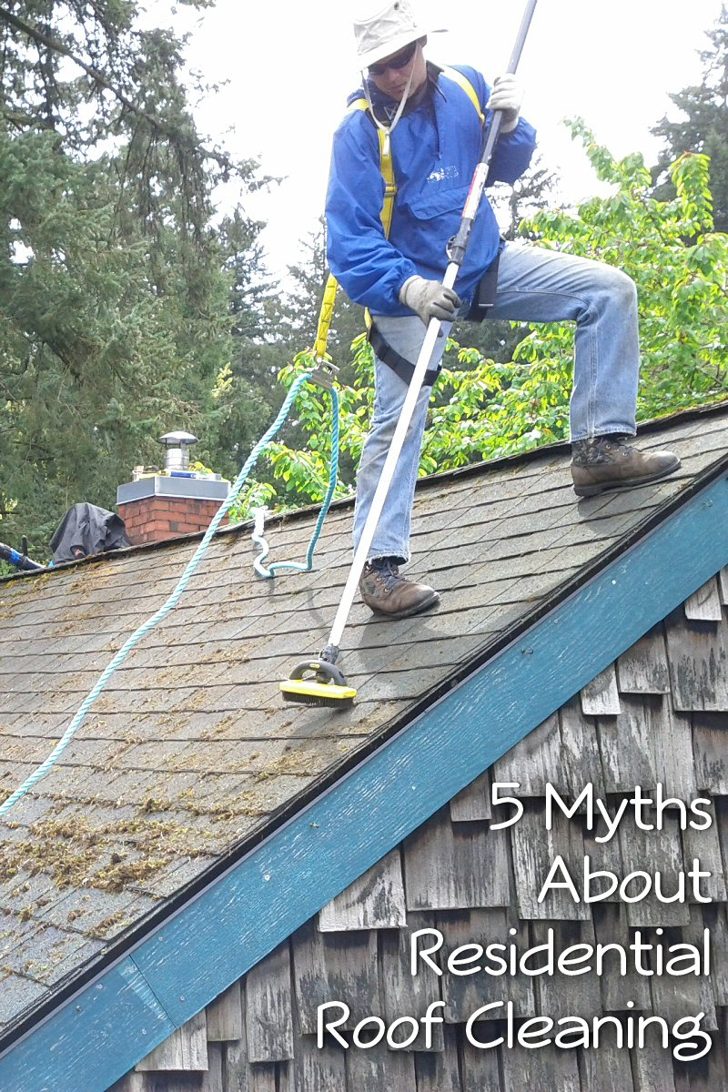 5 myths about residential roof cleaning