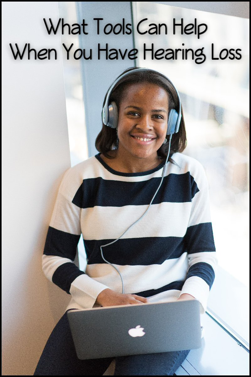 hearing loss, woman, headphones, computer