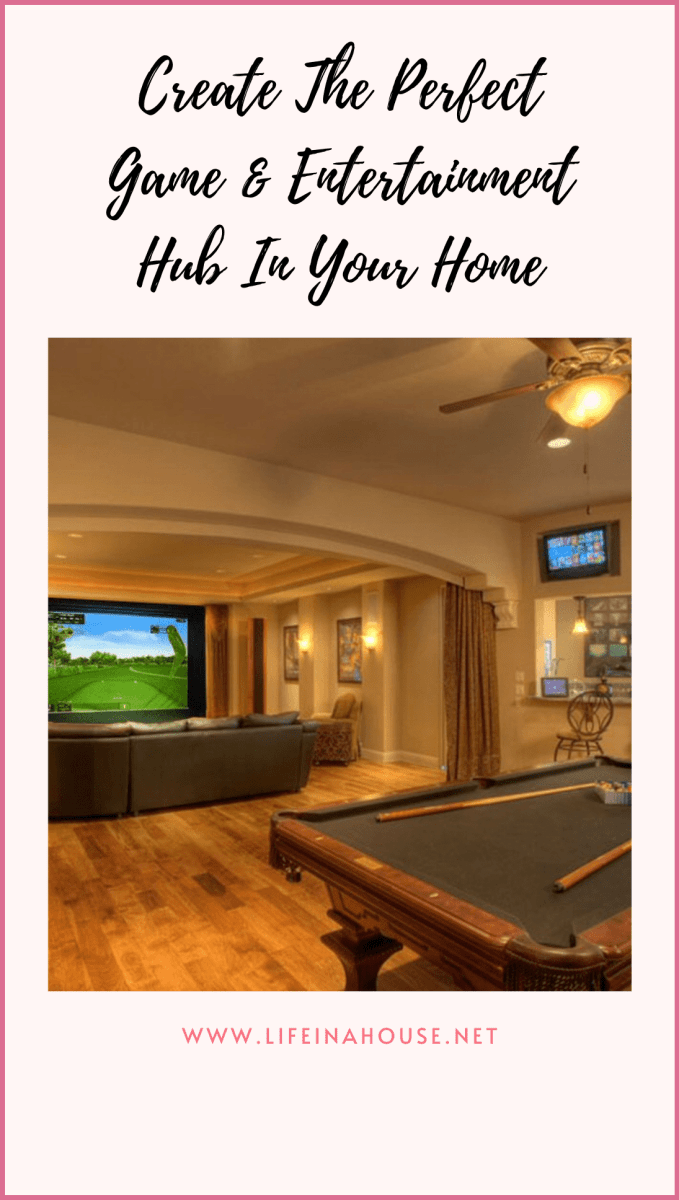 home entertainment center pool table