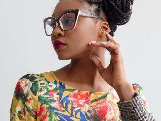 cat eye glasses, woman