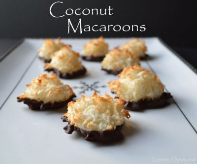 Sunday's Best Featured Post Week 59 - Coconut Macaroons from All She Cooks