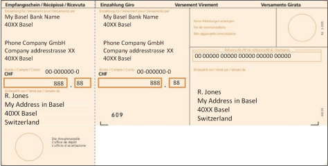 Orange payment slips generally come from companies for rent, water, phone bills, cable, etc.