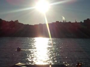 basel rhine summer