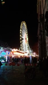 Ferris wheel at Munsterplatz in Basel during Herbstmesse