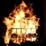 High flames in Liestal fire parade