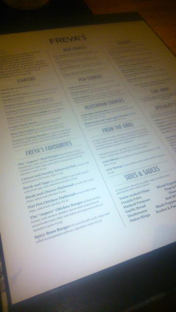 freyas menu
