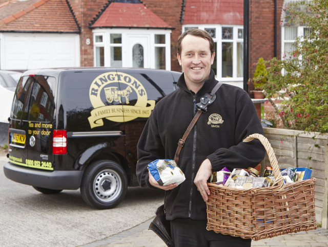 Ringtons doorstep delivery service