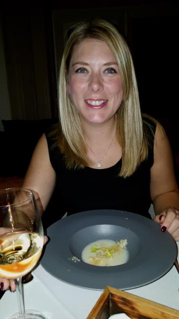 blue cheese tortellini, cerlariac veloute, apple and chestnut jesmond dene house tasting menu