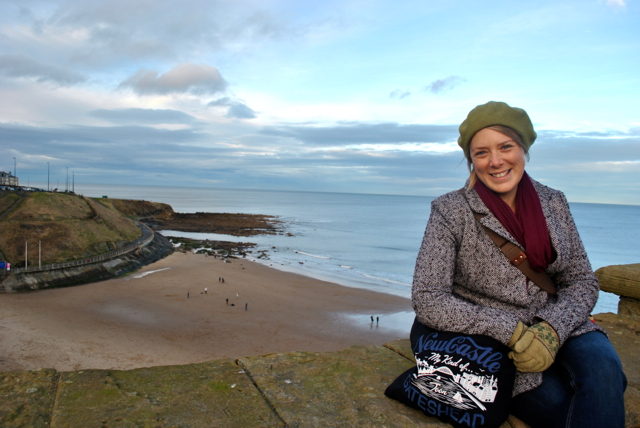 I love the view from Tynemouth Priory, even in the cold!