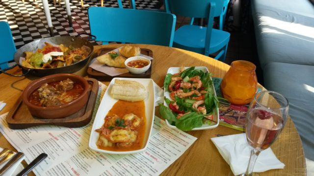 A feast of food from Las Iguanas