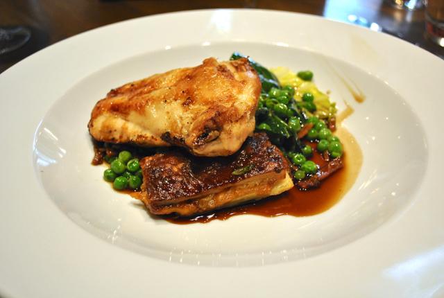 Chicken main course from Blackfriars restaurant