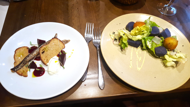 starters from set menu at blackfriars