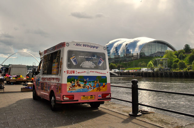 ice cream van sage gateshead, newcastle quayside