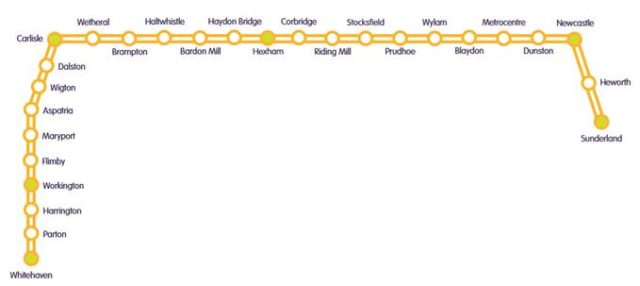 northern rail route