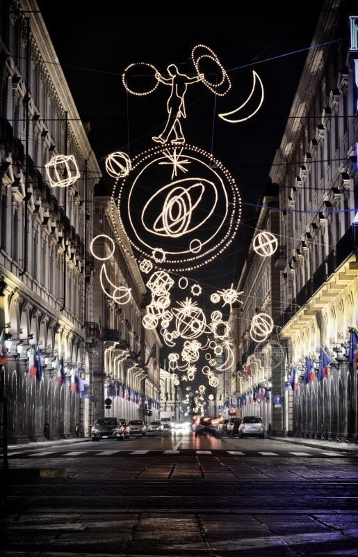 christmas lights turin