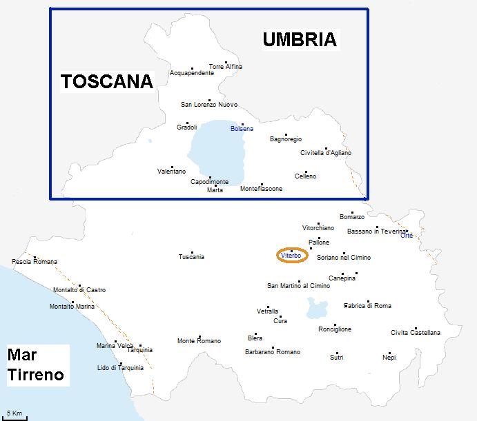 tuscia map