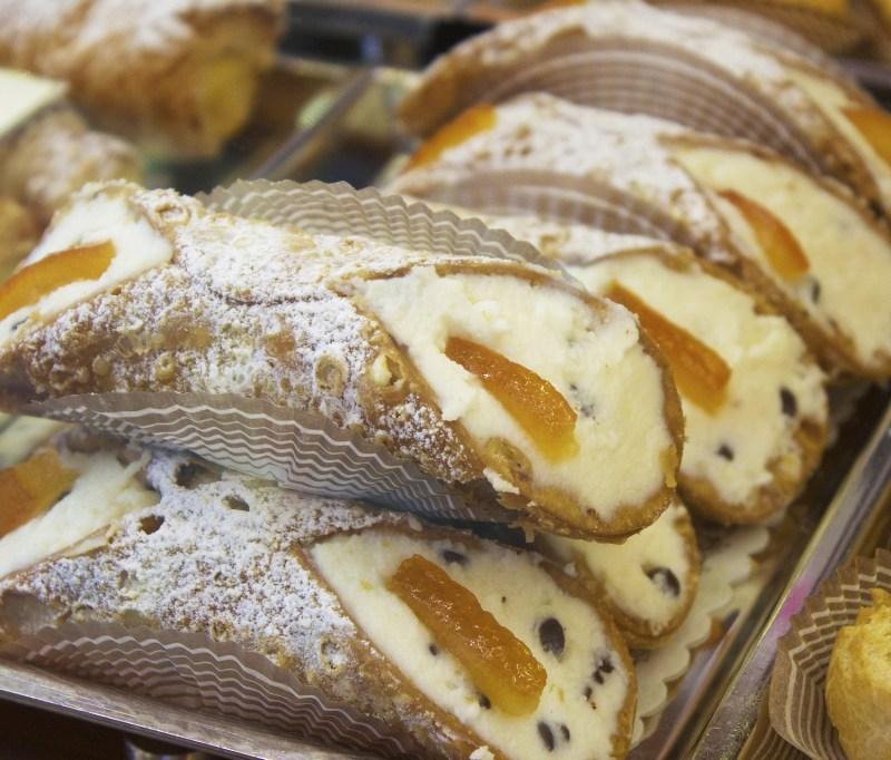 A tray of Cannoli Siciliani