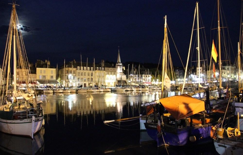 Motorhoming in France | Visiting Honfleur's Historic Harbourside at Night