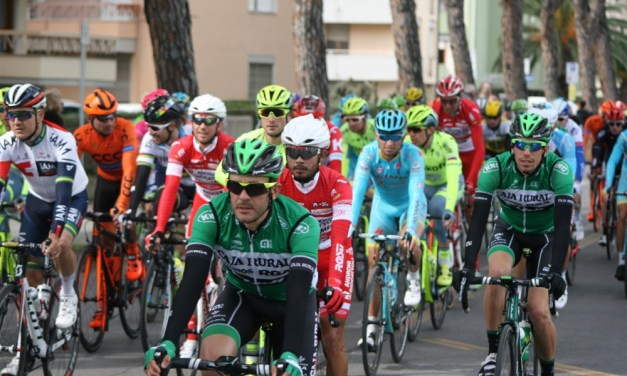 Offering the girls some inspiration at UCI cycling's 'Tierno Adriatico' in Pisa