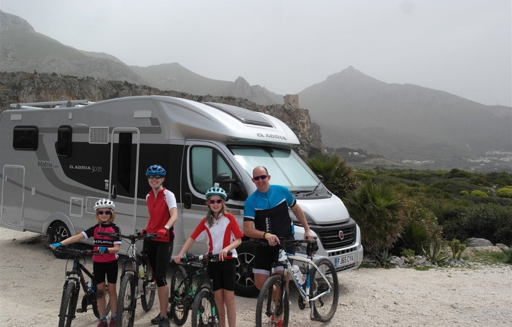 Motorhoming in Sicily | Biking to to the Birds Nest that is Erice