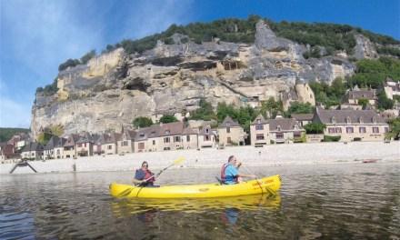 LifeinourVan's girls take their grandparents kayaking on the River Dordogne