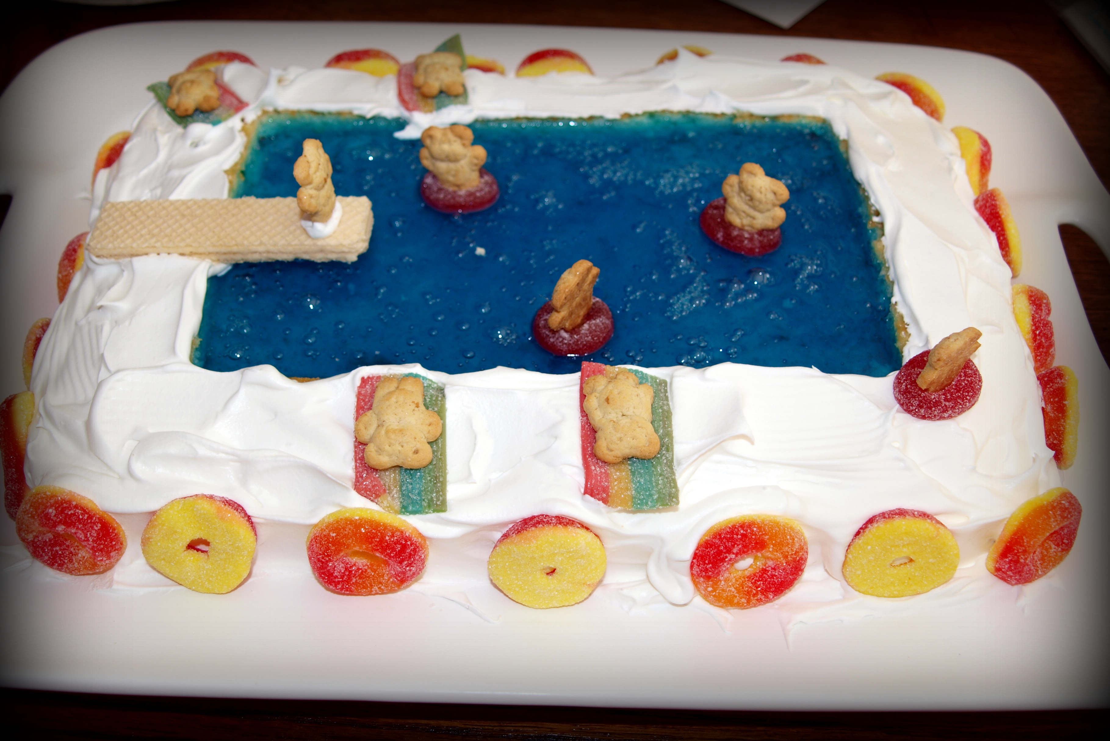 Pool Party Cake Life In Pleasantville